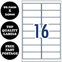 [16 Per Page] A4 Self Adhesive Address Labels Laser Inkjet Print Mailing Stickers 100 Sheets