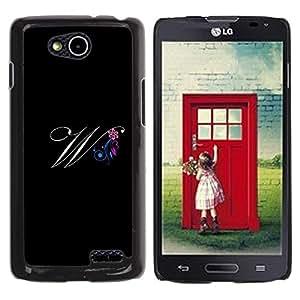 Be Good Phone Accessory // Dura Cáscara cubierta Protectora Caso Carcasa Funda de Protección para LG OPTIMUS L90 / D415 // Black Initials Letter Calligraphy Text