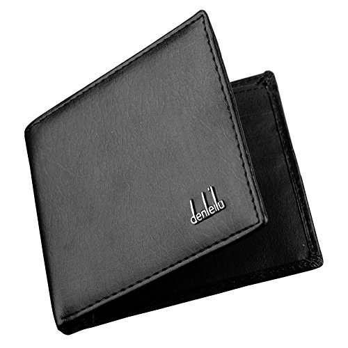 ID Cards Purse Pockets Credit Money 2 Wallet Leather Mens Black Holder Synthetic Colors 1fAwWz
