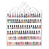 Dazone DIY 6 Tier Metal Nail Polish Rack Nail Polish Wall Rack Organizer Holds 120 Bottles Nail Polish White