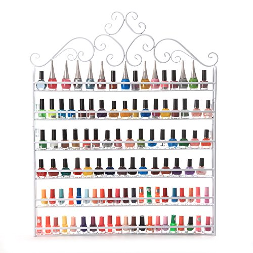 Dazone DIY Mounted 6 Shelf Nail Polish Wall Rack Organizer for sale  Delivered anywhere in USA