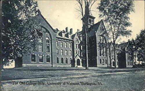 The Old College Bldg, University of Vermont Burlington Original Vintage Postcard
