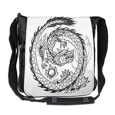 9f52da4b3635 durable service Lovebbag Ethnic Asian Japanese Swirled Dragon Pattern Folk  Heritage Spiritual Illustration Decorative Crossbody Messenger
