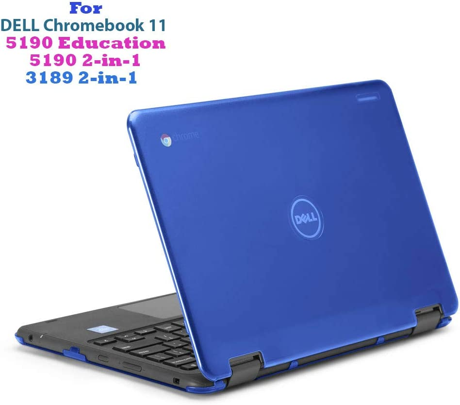 "mCover Hard Shell Case for 11.6"" Dell Chromebook 11 5190 3189 Series Education or 2-in-1 Laptop (NOT Compatible with 210-ACDU / 3120/3180 Series) - Dell-C11-5190 Blue"