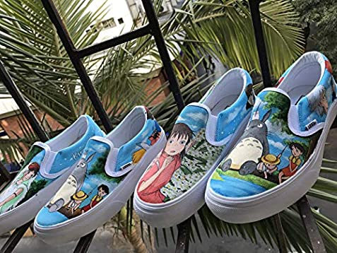 3c1e60254491a9 Amazon.com  My Neighbor Totoro Vans Slipon Custom Spirited Away ...