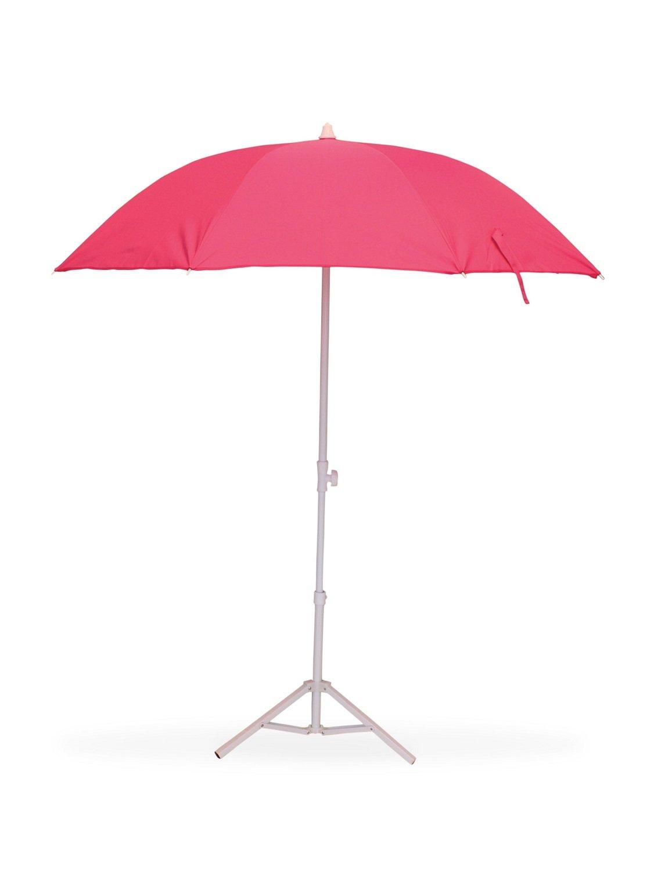Fushia Parasol de Plage /Ø160 cm T/élescopique Anti-UV VIASOL