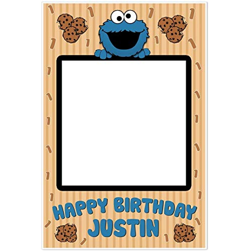 Cookie Monster Selfie Frame Photo Prop Poster