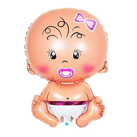 Scrox 1 Piezas Globos 1 año Cumpleaños Niña Chupete Niño Dibujos Animados Látex Globos de Helio DIY Decoracion Globo de Aluminio Regalos para Bebes ...