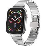 NotoCity Apple Watch ステンレススチール バンド ビジネス風 アップルウォッチ ベルト対応 Apple Watch Series 4 Series 3 Series 2/1 (42mm/44mm, 銀)