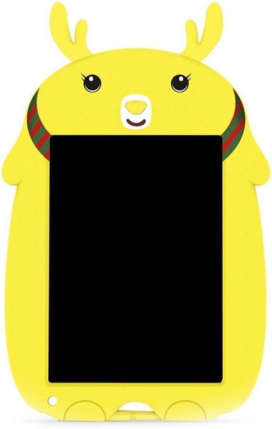 LCDライティングタブレット8.5インチのカラフルなデジタル電子グラフィックタブレットポータブルボード手書き ペン&タッチ マンガ・イラスト制作用モデル (Color : Yellow)