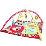 Cheap Baby Play Mat – Infant Activity Gym – Overhead Arches with Toys, Animals, Music and Sounds – Soft Padding for Tummy time or Back Play – By Dazzling Toys
