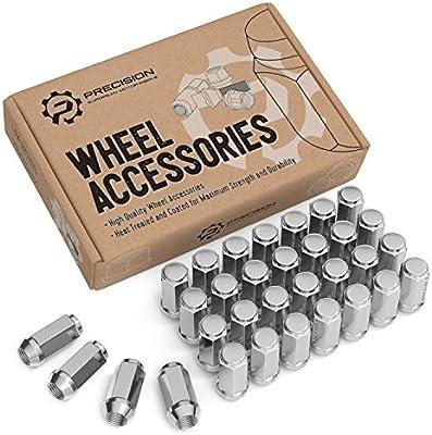 "32pc Chrome Bulge Acorn Lug Nuts14x1.5 for Chevy GMC Hummer Trucks2/"" Tall"