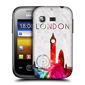 AIYAYA Samsung Case Designs Big Ben London England Watercoloured Skyline Protective Snap-on Hard Back Case Cover for Samsung Galaxy Pocket S5300