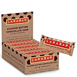 Larabar Gluten Free Bar, Almond Butter Chocolate Chip, 1.6 oz Bars (16 Count), Whole Food Gluten Free Bars, Dairy Free Snacks