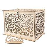 Aytai DIY Rustic Wedding Card Box with Lock and Card Sign Wooden Gift