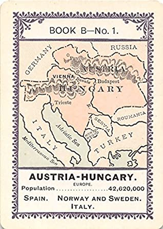 Austria-Hungary 1896 Fireside Game of Population Card #B1