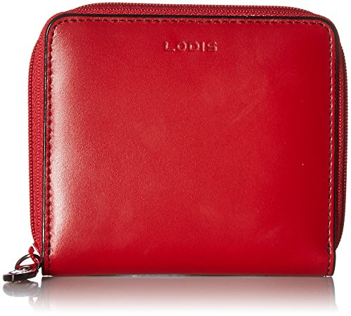 Lodis Women's Audrey RFID Amaya Zip French Wallet, red, One Size ()