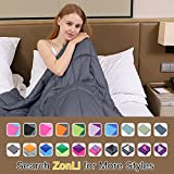 ZonLi Small Weighted Blanket (41''x60'', 7lbs for 50-90lbs individual, Grey) for Children, Girls and Boys | Great for Insomnia, Autism, ADHD, Stress Relief | Fit Twin or Full Sized Bed