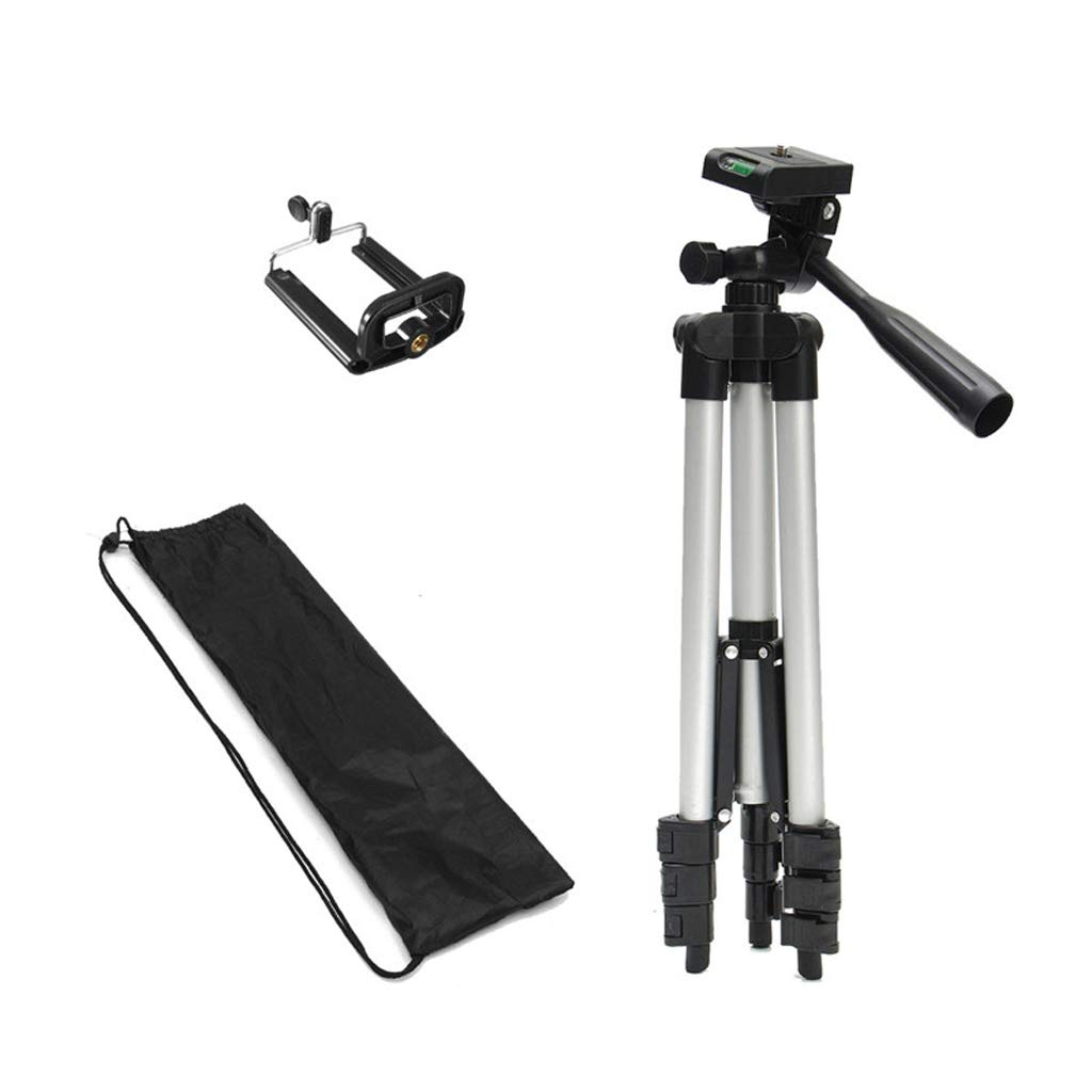 Byx- Cell Phone Stand-Portable 36-100 cm Tripod Stand with Rocker Arm Adjustable for Camera Phone Mount Holder Clip Bracket Set for Cell Phone Camera -Cell Phone Stand