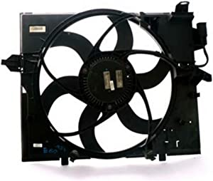 OEM# 17427526824 Radiator Condenser Cooling Fan Assembly for BMW E60 525 & 530 M54