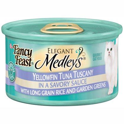 Fancy Feast Elegant Medley`s Yellowfin Tuna Tuscany w/ Long