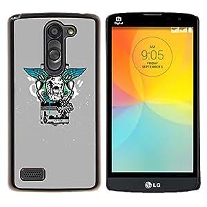 For LG L Prime D337 / L Bello D337 Case , Estilo León Alas calle- Diseño Patrón Teléfono Caso Cubierta Case Bumper Duro Protección Case Cover Funda