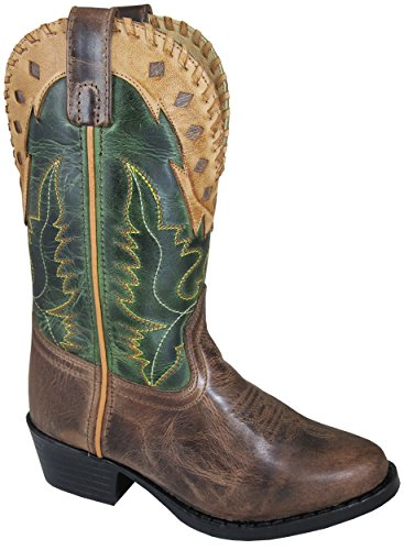 Smoky Mountain Boys' Reno Western Boot Round Toe Brown 4 D ()