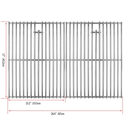 Best Price Uniflasy 17 Inches Cooking Grates for Home Depot Nexgrill 720-0830H Gas Grill, Stainless ...