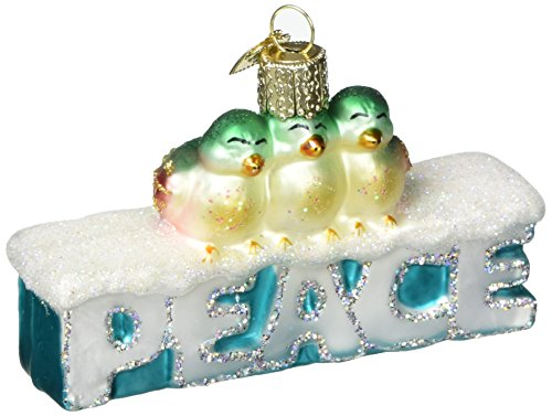 Old World Christmas Peace Glass Blown Ornament -