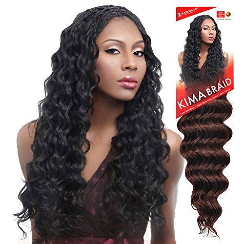 Harlem125 Synthetic Hair Braids Kima Braid Ocean Wave 20 (4-Pack, 1B) by Harlem 125 by Harlem 125 (Image #1)