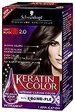 packaging Schwarzkopf Keratin Color Anti-Age Hair Color Cream, 2.0 Ebony Brown (Packaging May Vary)
