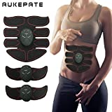 Aukepate Abs Muscle Trainer Abdominal Toning Belt Abs Toner of Abdominal Body Muscle Trainer with 8 Pieces of Pad for Abdomen/Arm/Thigh/Waist Support for Men and Women Review