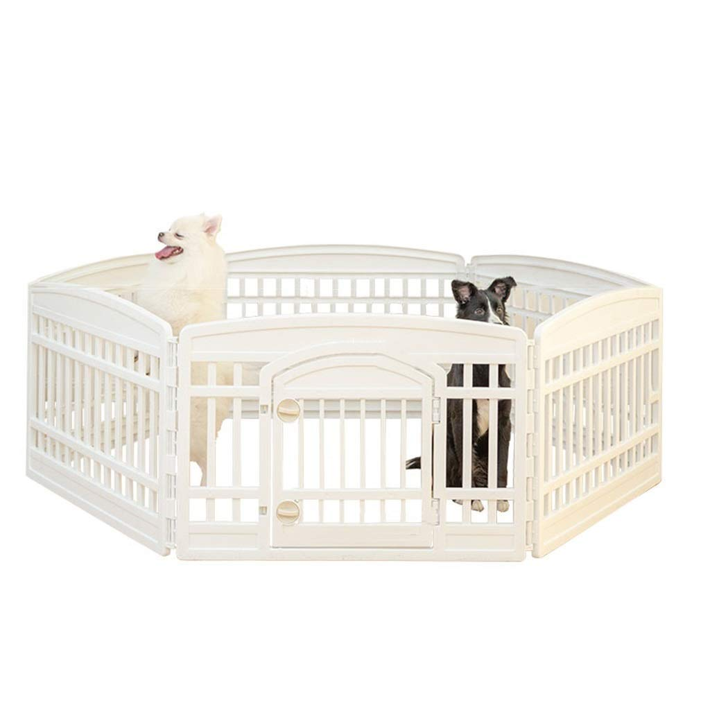 B GBY Puppy heavy puppy play pen- Expandable small animal plastic fence cage rabbit guinea pig rabbit small puppy, indoor and outdoorPuppy fence (Shape   B)
