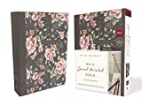 NKJV, Journal the Word Bible, Cloth over Board, Gray Floral, Red Letter Edition, Comfort Print: Reflect, Journal, or Create Art Next to Your Favorite Verses
