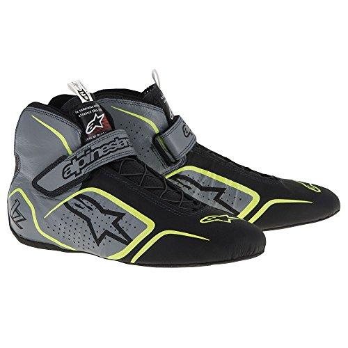 Shoes Racing Alpinestars - Alpinestars Tech 1-Z Racing Shoes 271-5115 (Size: 13, Anthracite/Black/Yellow)