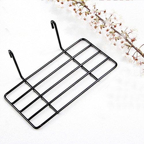 AceList Straight Shelf Rack for Gridwall Grid Panel Wall Mountable Wire Organizer Storage Flower Pot Display Decor 9.8
