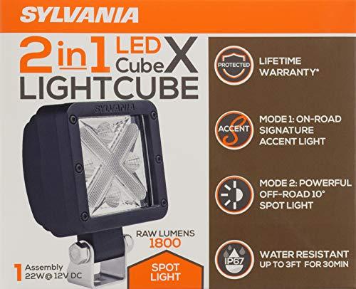 ... Cube-X Spot/Flood Combo LED Off Road Light - 10 Degree Wide Beam Spread, 22 Watts, 1800 Raw Lumens, Spot/Flood Combo, Cree, Truck, Jeep, Boat, ATV, SUV, ...