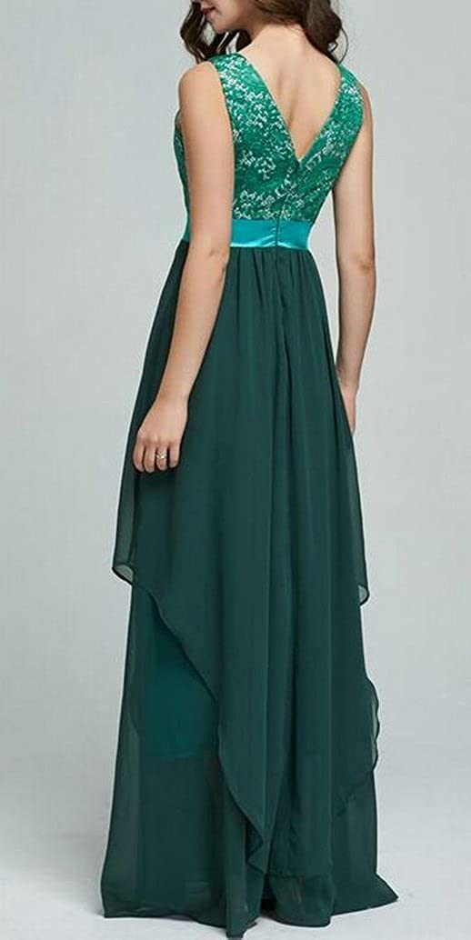Stylish Lace Stitch Big Hem Party Evening Formal Maxi Dress Sundress Girls