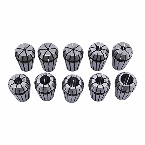 ZJchao 10 PCS ER16 1-10mm Spring Collet Set Chuck Collet for CNC Engraving Machine & milling Lathe Tool