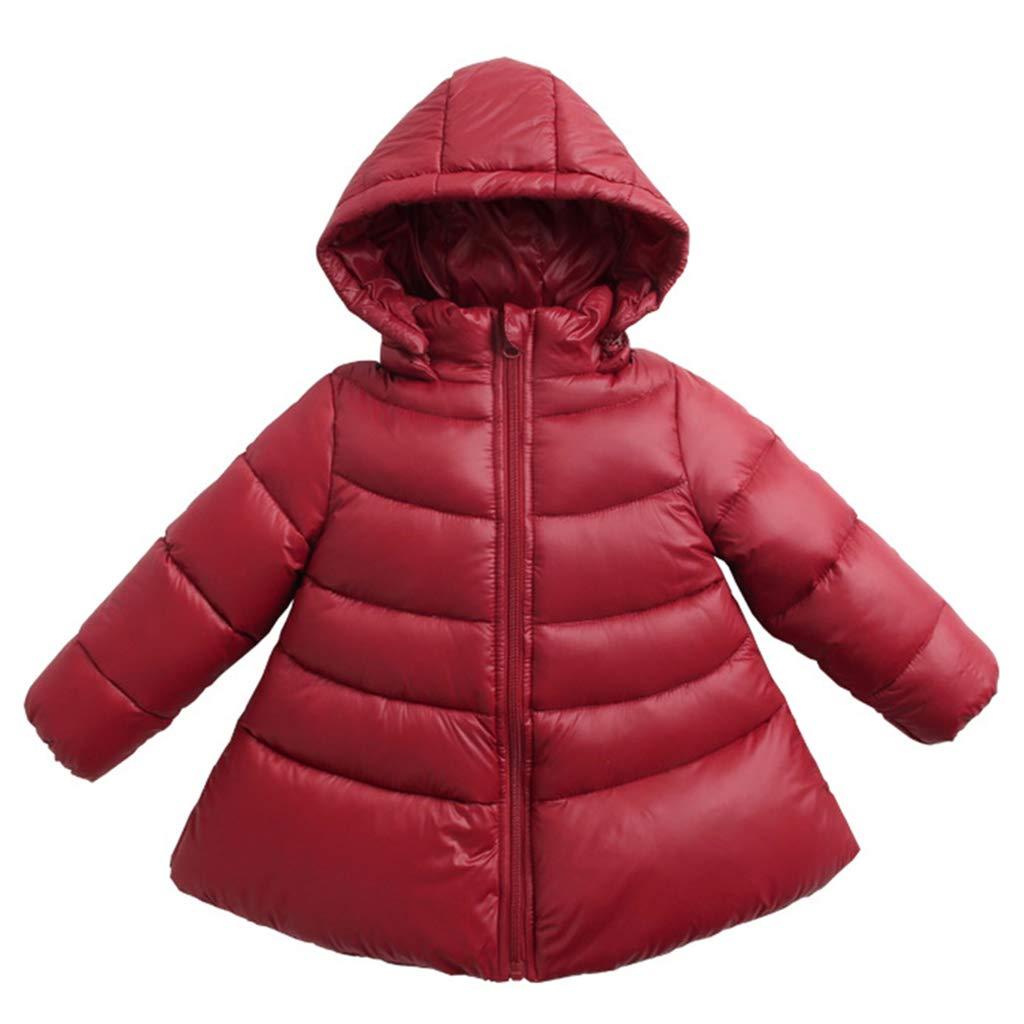 Bambino Giacche di piuma Ragazze Piumino Inverno Cappotto con Cappuccio Giubbotti Blu 9-12 Mesi Ltd
