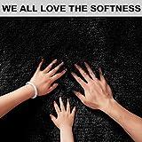 PAGISOFE Black Fluffy Shag Area Rugs for Bedroom