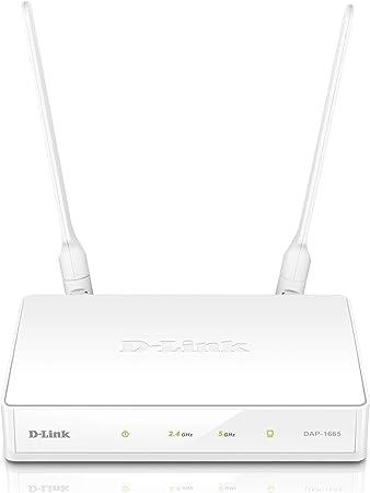 D-Link DAP-1665 - Repetidor/amplificador extensor de red WiFi AC1200 (1 puerto LAN Gigabit 10/100/1000 Mbps, 2 antenas externas extraíbles, punto de ...