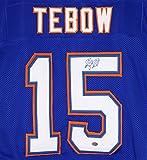 Tim Tebow Florida Gators Signed Autographed Blue #15 Custom Jersey