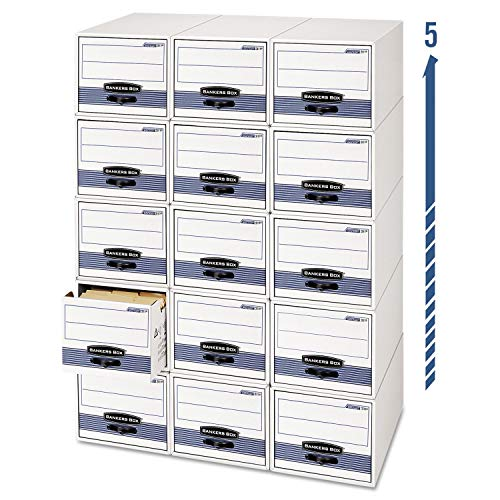 "Bankers Box 00302 Steel Stor/Drawer File,9-1/4""x23-1/2""x4-3/8"",12/CT,WE/Blue -  FEL00302"