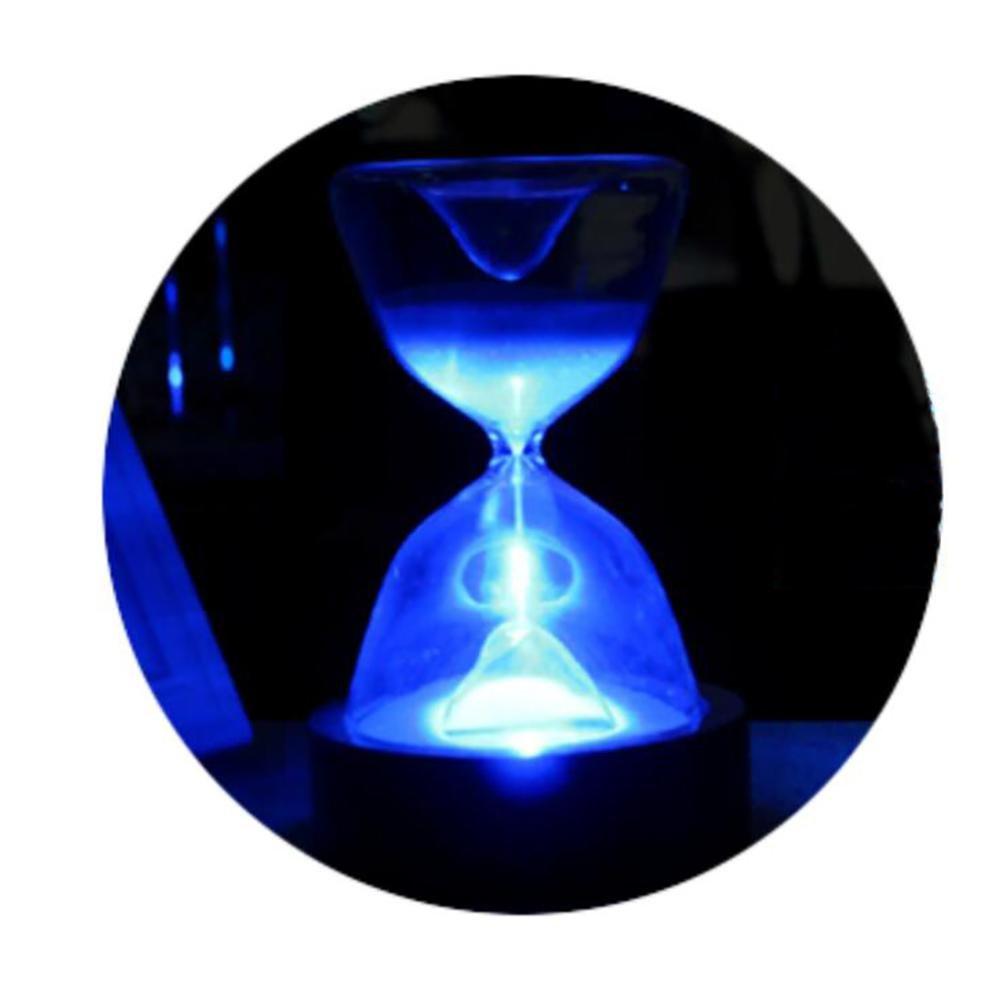 DENGS Reloj de Arena de Cristal Luz 7 de Noche Minutero Regalo Creativo 7 Luz Colores LED Sleep Helper con Control Remoto para Regalos de cumpleaños Decoración del hogar, 4 c20c04