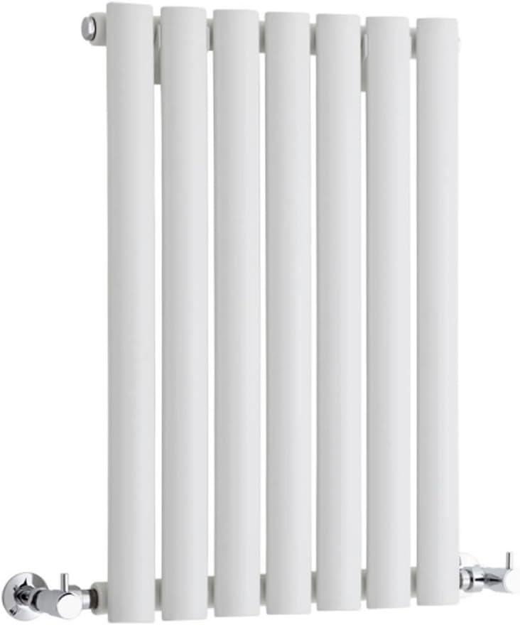 Hudson Reed Radiador Revive Horizontal con Calefacción de Diseño Moderno - Radiador con Acabado en Blanco - Diseño de Columna - 635 x 415mm - 418W - Calefacción