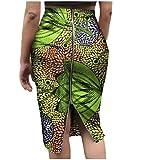 Abetteric Womens Cotton African Dashiki Floral Print Bodycon Pencil Skirt 10 XL