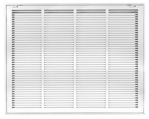 Accord ABRFWH2420 Return Filter Grille with 1/2-Inch Fin Louvered, 24-Inch x 20-Inch(Duct Opening Measurements), White ()