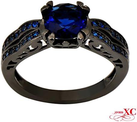 Luxussay Beautiful Fashion Jewelry AAA Zircon Black Gold Filled Wedding Ring