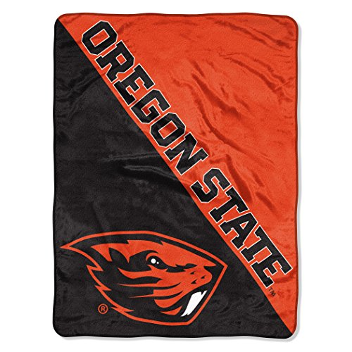 (The Northwest Company Officially Licensed NCAA Oregon State University Halftone Micro Raschel Throw Blanket, 46